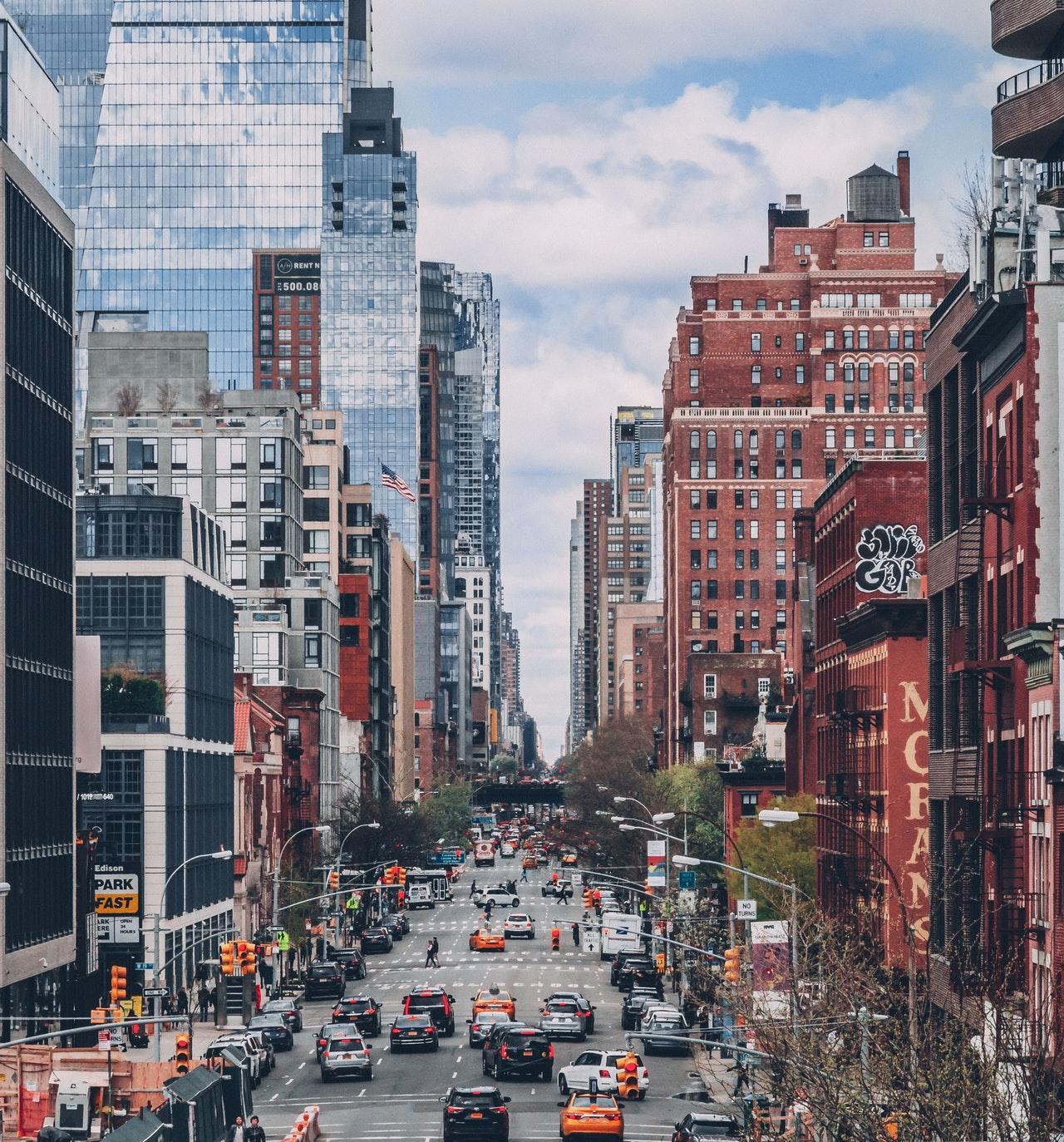 traffic in a city