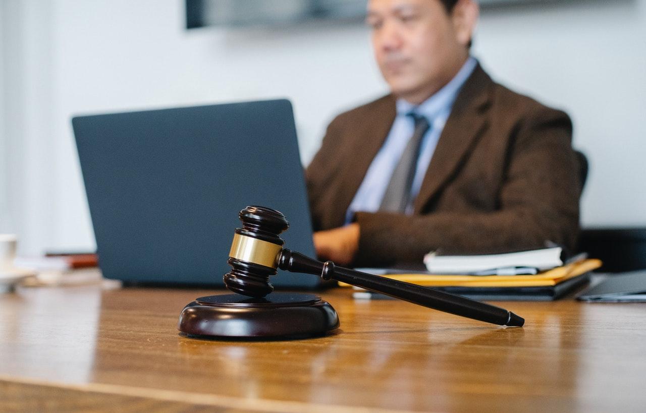 attorney sitting in office